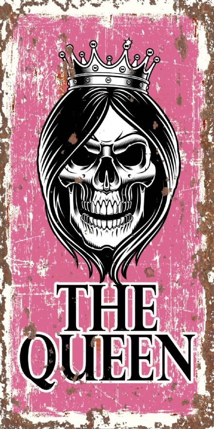 The Queen Skull -  Extra Large 2x1ft  Metal Wall Sign